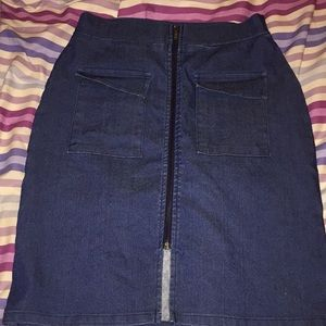Charlotte Russe zippered jeans skirt